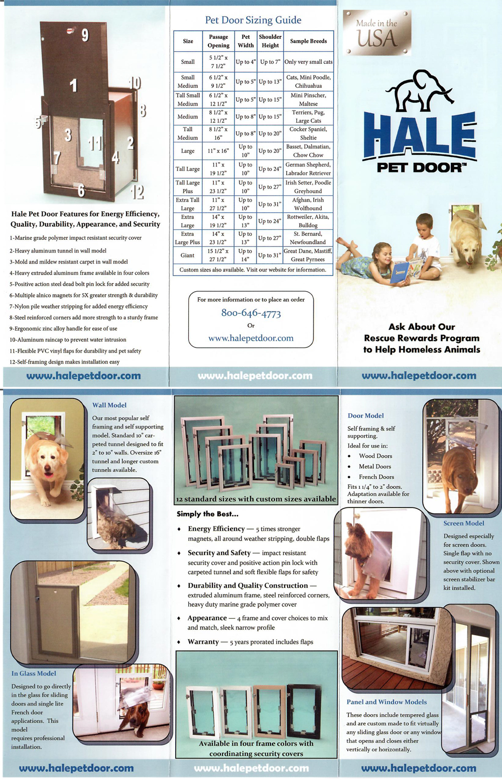 Hale Pet Door Brochure