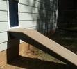Doggie Door with Ramp Installation