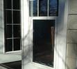 In Glass Dog Door Installation