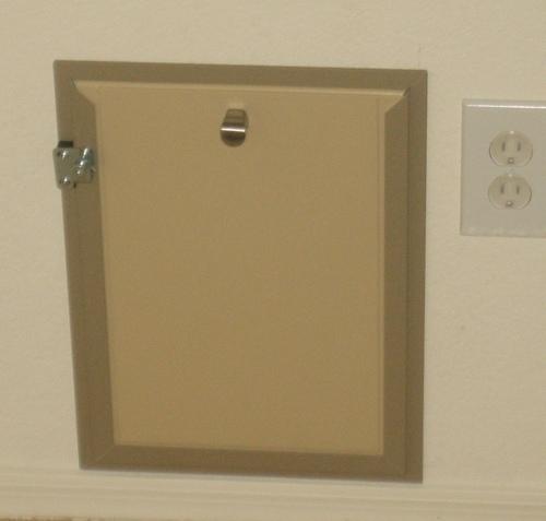 Hale Pet Door Framed Wall Installation