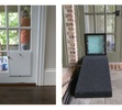 Mixed Frame Pet Door with a Ramp