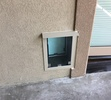 A Pet Door for a Stucco Wall