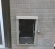 Brick Wall Pet Door Installation