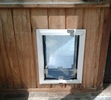 Framed Pet Door Wall Installation