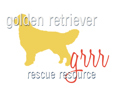 Golden retriever rescue resource logo