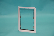 White Screen Model Pet Door - Reverse Side