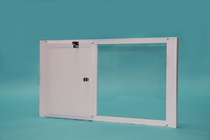Vertical OptiView Window Pet Door with Cover Closed
