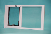 Vertical OptiView Window Pet Door without Cover