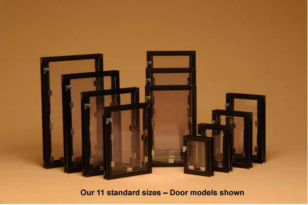 Image Of 11 Standard Sizes Of Hale Pet Door