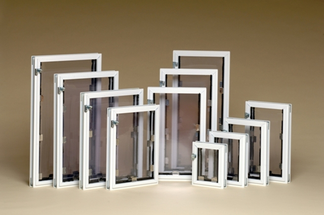 Eleven (11) standard sizes of Hale Pet Door door models