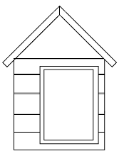 Hale Pet Door Dog House Drawing