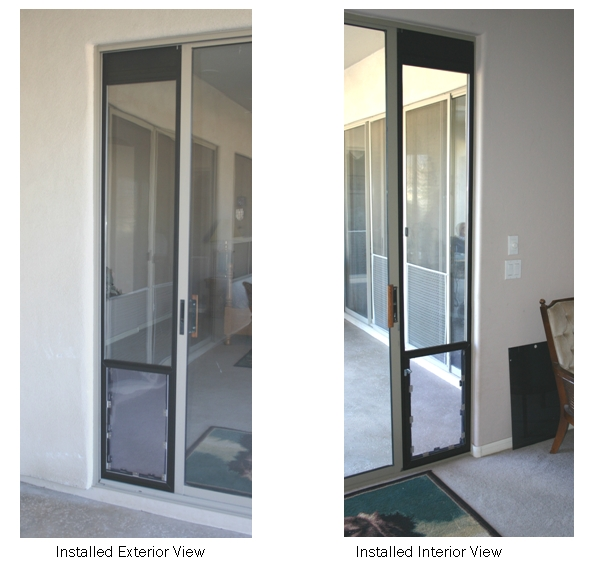 Completed Omni Panel Pet Door Installation