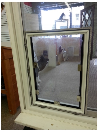 Hale pet door installation instructions - Interior door with pet door installed ...