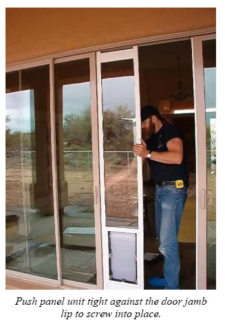 Nice ... The Pet Door Or The Patio Door SHOULD NOT BE USED FOR AT LEAST 24  HOURS. Using Either Door Too Soon Will Move The Pet Door Panel Before The  Silicone Has ...