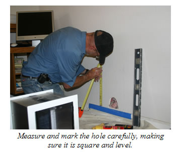 Measure and mark holes