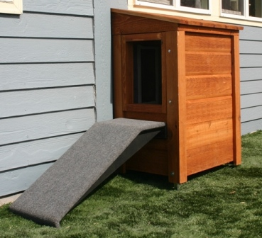 Hale Pet Door ramp attached to security barrier