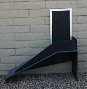 Hale Pet Door Self Standing Ramp Parallel To House